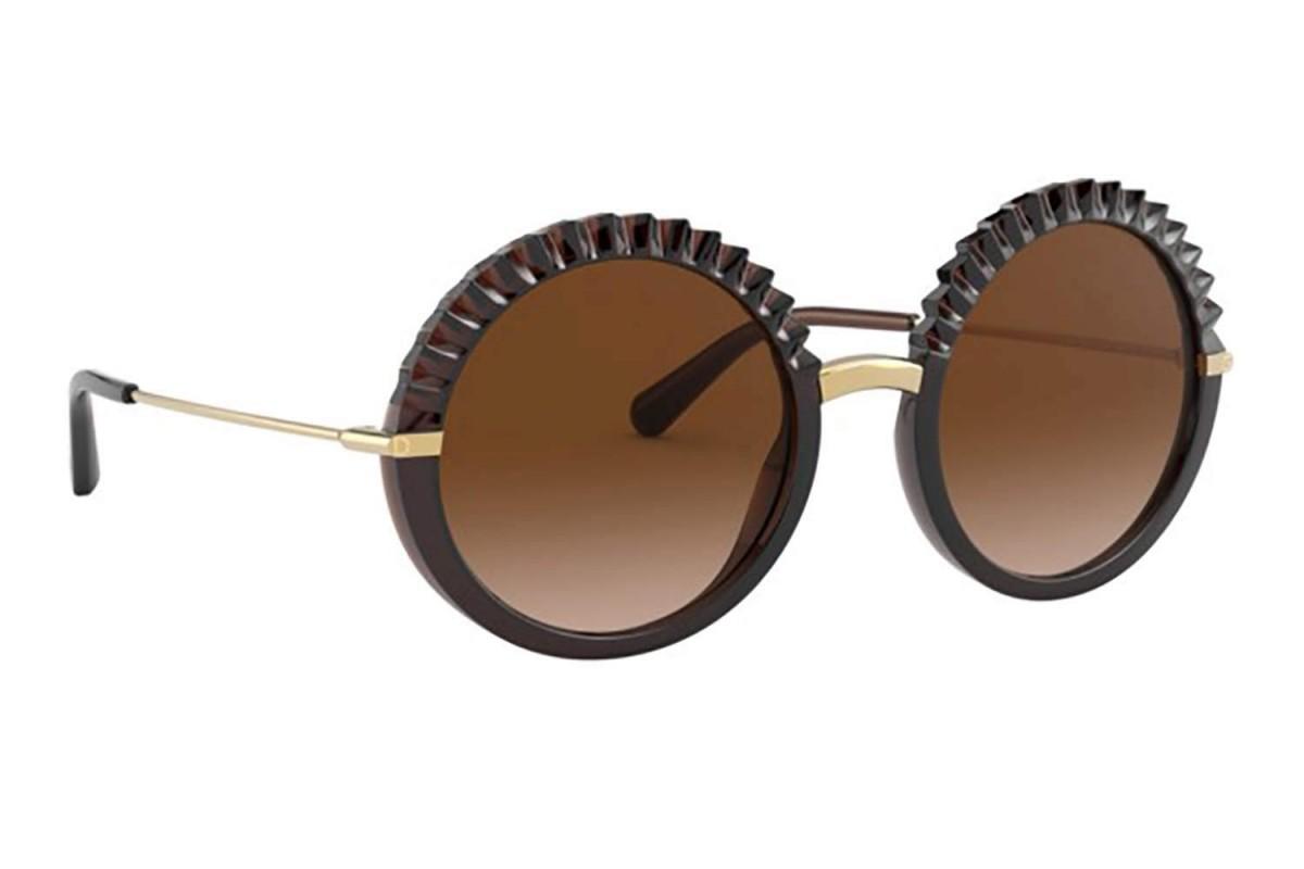 Dolce & Gabbana 6130 315913 52, 143,00€, Occhiali Dolce&Gabbana Marrone a forma Rotondo